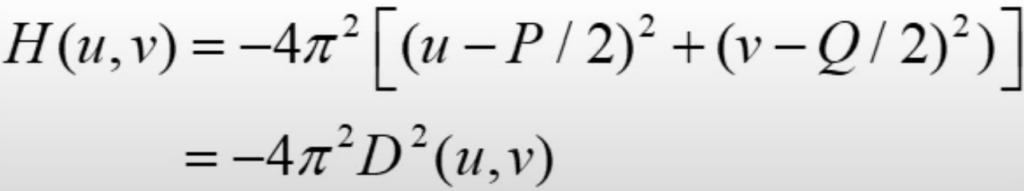 Laplacian filter formula