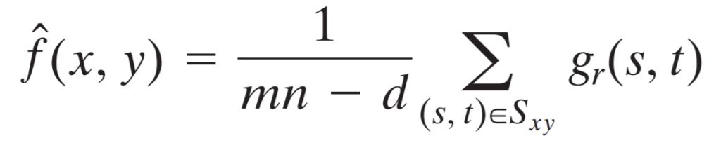 alpha trimmed mean filter formula