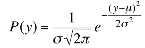Gaussian probability distribution function for noise generation