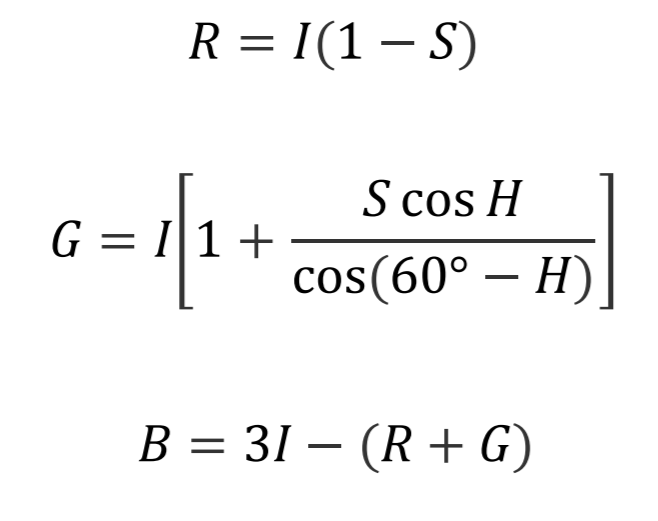 conversion formulas for GB sector