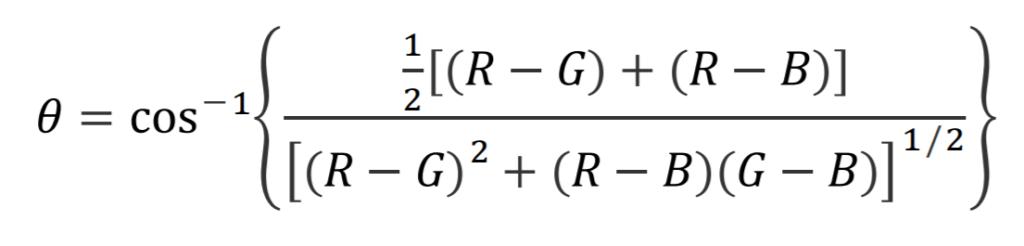 hue angle formula