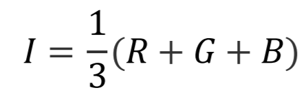 rgb to hsi intensity component formula