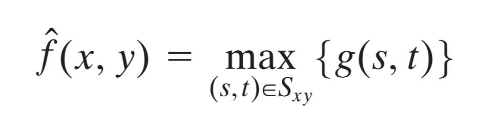 max filter formula