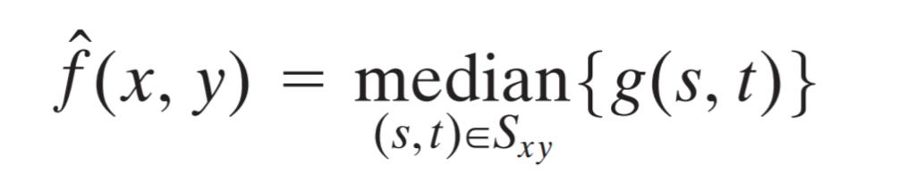 median filter formula