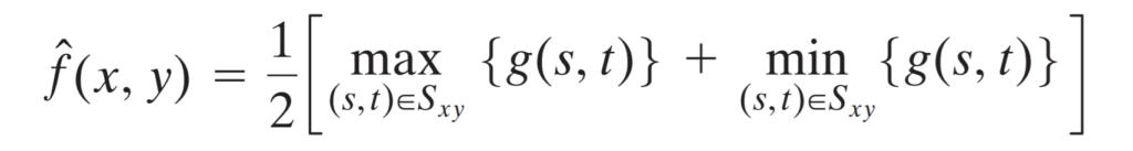 midpoint filter formula