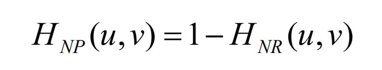 notch pass filters formula