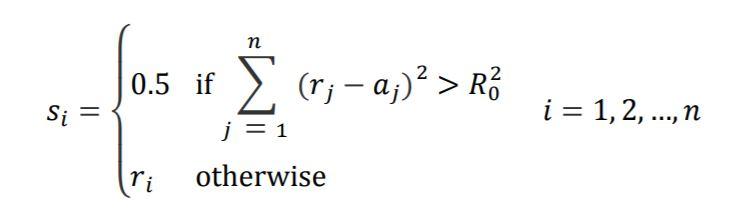 color slicing sphere formula