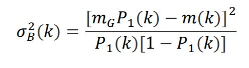 Formula for between-class variance for Otsu thresholding