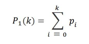 Formula for cumulative sum for Otsu thresholding